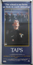 Taps, Original Australian daybill, Timothy Hutton, Tom Cruise, Sean Penn, '81